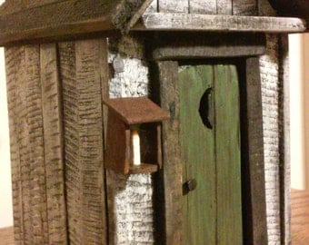 Outhouse , Primitive Tabletop - Primitive Decor - Country Decor