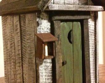 outhouse decor etsy. Black Bedroom Furniture Sets. Home Design Ideas