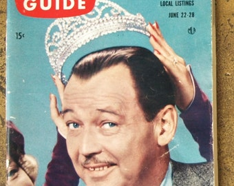 1957 TV Guide with Jack Baily of 'Queen for a Day' on the Cover