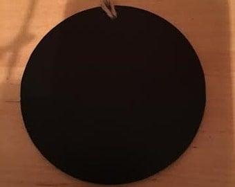 Wooden Round Chalkboard Ornament