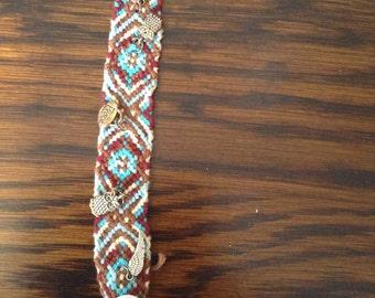 Friendship bracelet w/charms