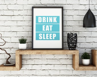 Unique Eat Drink Love Art Related Items Etsy
