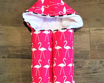 Pink Flamingo Hooded Towel- Baby Hooded Towels - Kids Hooded Towel - Baby Bath Towel - Beach Pool Swim Towel- Baby Shower gift- Flamingos