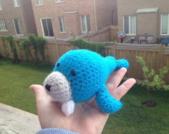 Amigurumi Walrus, crochet toy, crochet walrus, crochet nursery decor, nursery toy, baby safe, blue stuffed animal