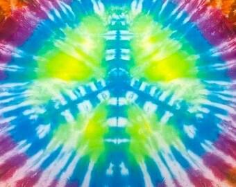 Peace Sign Tie Dye
