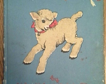 "Rare Vintage 1942 Book THE WOOLLY LAMB, a ""flocked"" book"