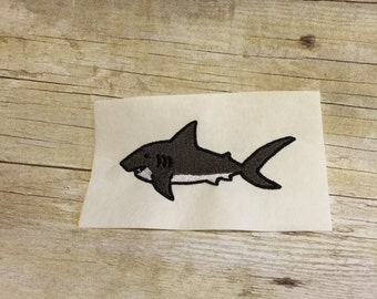 Shark Embroidery Design, Shark Applique