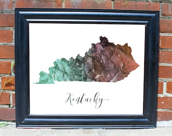 Kentucky Wall Art Etsy
