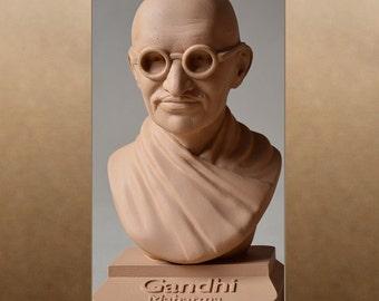 Mahatma Gandhi matt-colour sand-braun 20cm büste bust busto popiersie бюст