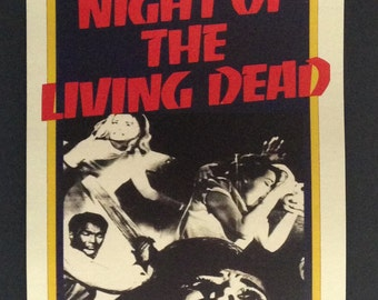 "Night of the Living Dead Movie Poster RSVP Style 12""x18"" // George Romero // Zombies // 1968 // Horror"