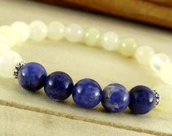 Womens Onyx Bracelet Sodalite Jewelry Womens Gift For Women Stone Jewelry Beaded Bracelet Womens Jewelry Sister Gift For Sister Onyx Jewelry