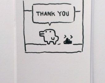 "Kuchipatchi Tamagotchi ""Thank You"" A6 Postcard"