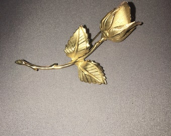 GIOVANNI gold rose pin