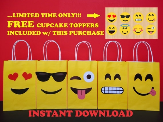 Silly Faces Emoji Party Loot Bags