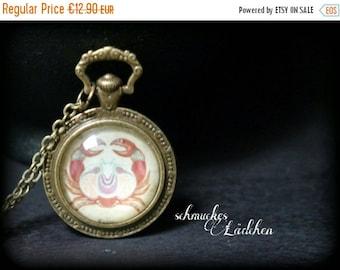 Antique bronze chain horoscope zodiac sign cancer