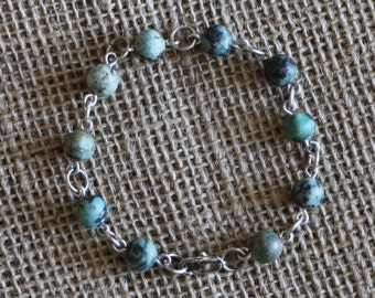 Grey Turquoise Bracelet-silver