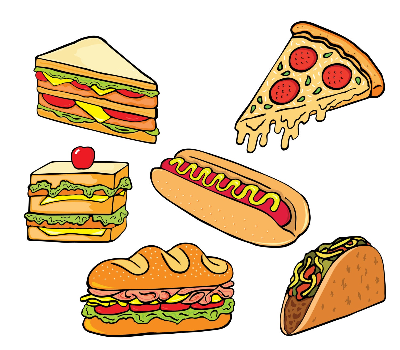 Junk food clipart | Etsy