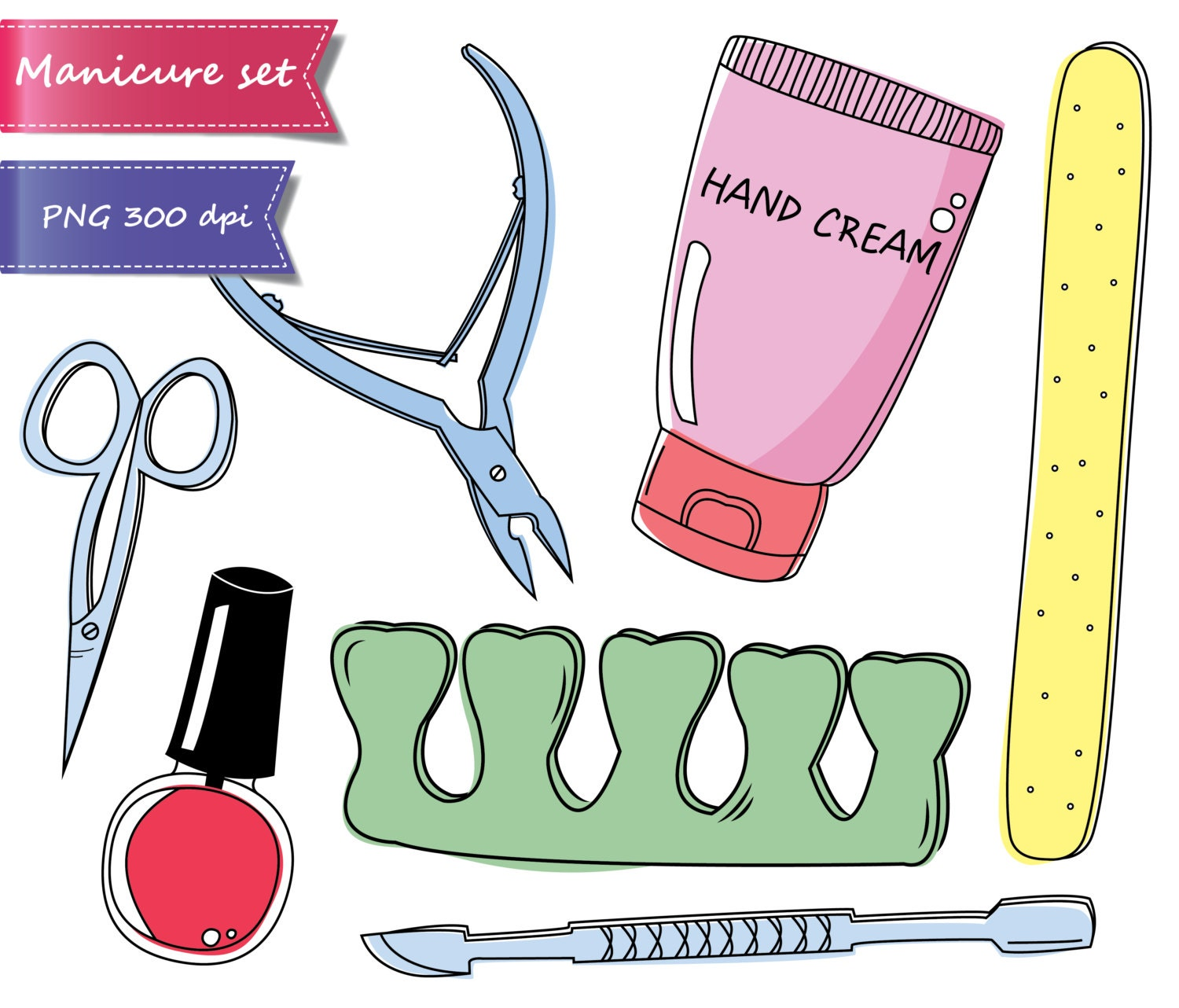 50% OFF SALE Manicure clipart, pedicure clipart, beauty ...