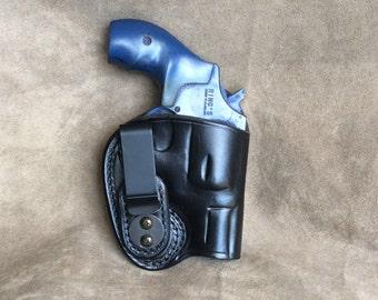 S&W J Frame Inside the Waistband (IWB) Leather Gun Holster