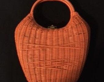 Peach   Basket   Vintage   Tote