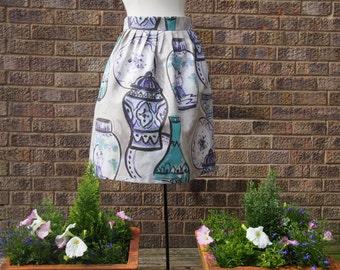 Handmade Ginger Jar Print Skirt Size 10
