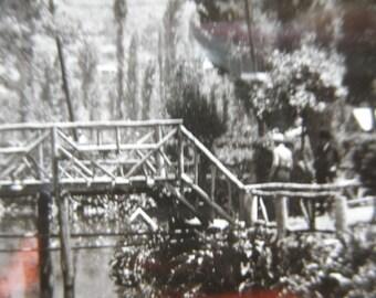 Antique 1920's Real Photo Postcard Post Card Mexico RPPC Xochimilco Black & White image