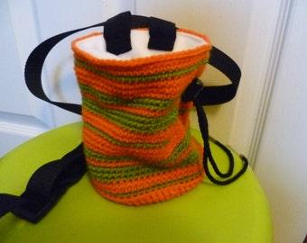 Striped Crochet Chalk Bag