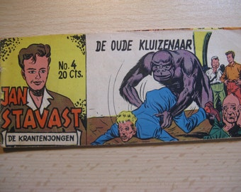 An old Lilliput comic book: Jan Stavast...de newspaper boy ... The old hermit ... 1954