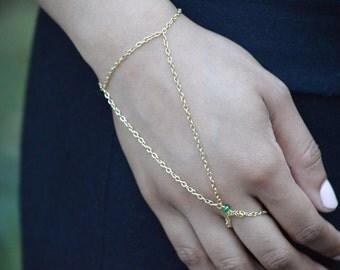 Gold Hand Chain Bracelet