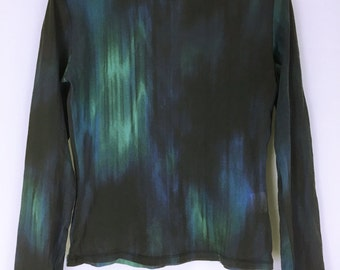 Issey Miyake vintage   blue mesh stretch tops