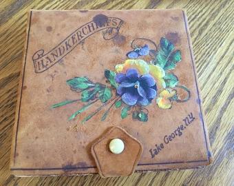 "Old Nandkerchiefs Box ""Lake George, NY"" w/2 cent George Washington stamp"