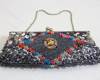Beautiful vintage beaded and sequence bag