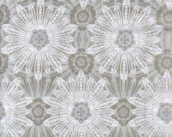 "RJR Fabric: Splash - Medallion Grey Fabric 100% cotton Fabric by the yard 36""x43"" (C74)"