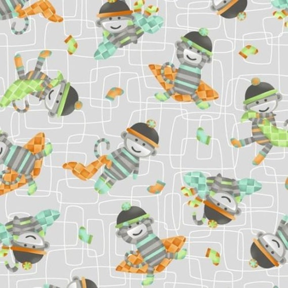 Jungle animals nursery fabric monkeys business fabric green for Nursery monkey fabric