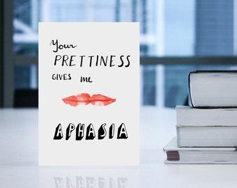 Nerdy Greeting Card - Medical Card - Geeky Card - Card for Girlfriend - Card for Wife - Appreciation Card - Nerdy Card - I Love You Card