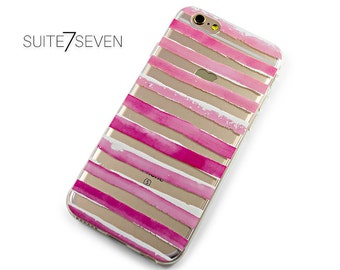iPhone 6 Case, iPhone 6s, iPhone Cases, Rubber Cases, iPhone 7 Case, iPhone 7 Plus, Galaxy Case, Galaxy S7 Case, S7 Edge Case, Pink Stripes