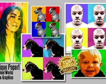 I will create you a pop art portrait like Andy Warhol