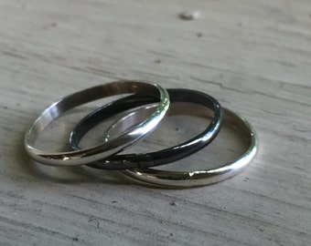 Stackable Ring Set - Silver - Stackable Rings - Set of 3