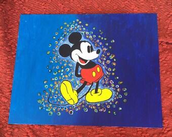 FAN ART- Marble bubbles & Mickey for Inspiration