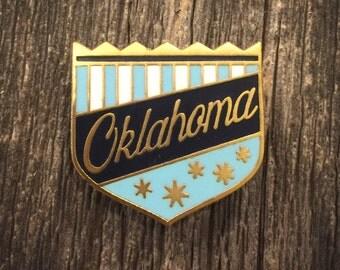 Oklahoma Enamel Pin - Blue