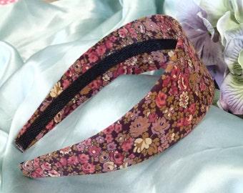 Floral Headband - Women's Headband - Romantic Headband - Girl's Headband - Hair Accessory - Plastic Headband - Fabric Covered Headband