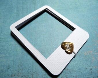 Polaroid frame / frame style polaroid / black and white cardstock / 10pcs / set of 10