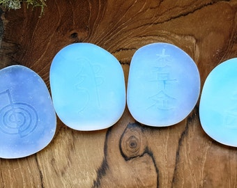 Opalite Embossed Reiki 4 pc Set -  467