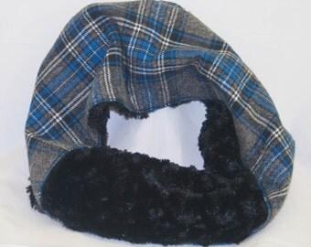 Flannel/Faux Fur Cowl Scarf