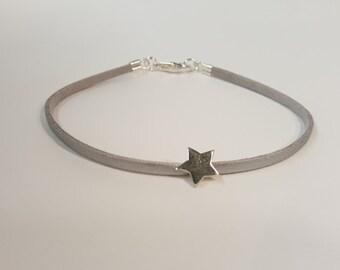star, suede bracelet, one band