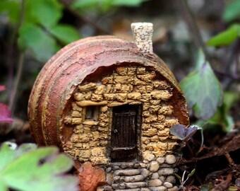 Enchanted Story Garden and Terrarium Barrel Fairy House Outdoor Decor Fairy Supply