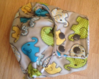 AIO Cloth Pocket Diaper- Elephants
