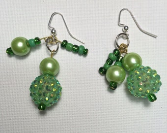 Green pearls Earrings