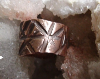 Hammered Copper Ring size 5.5-8