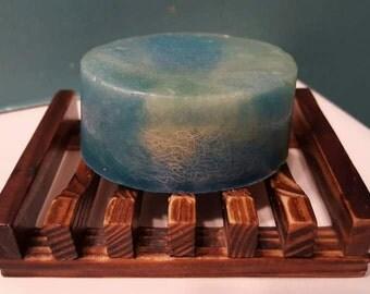 Rain scented loofah soap